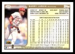 1999 Topps #345  Barry Larkin  Back Thumbnail