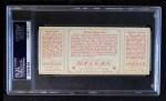 1912 T202 Hassan   -  Dolly Gray / Bob Groom Hartsel Strikes Out  Back Thumbnail