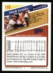 1993 Topps #116  Mark Lemke  Back Thumbnail