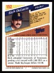 1993 Topps #152  Rich DeLucia  Back Thumbnail