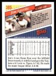 1993 Topps #385  Jim Leyritz  Back Thumbnail
