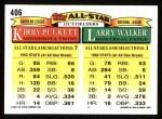 1993 Topps #406   -  Larry Walker / Kirby Puckett All-Star Back Thumbnail