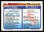 1993 Topps #504   -  Gene Lamont / Don Baylor Managers Back Thumbnail