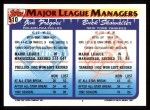 1993 Topps #510   -  Buck Showalter / Jim Fregosi Managers Back Thumbnail