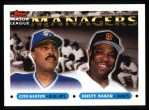 1993 Topps #514   -  Cito Gaston / Dusty Baker Managers Front Thumbnail