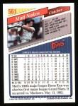 1993 Topps #561  Matt Nokes  Back Thumbnail