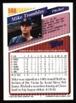 1993 Topps #588  Mike Trombley  Back Thumbnail