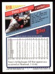 1993 Topps #618  Tony Pena  Back Thumbnail