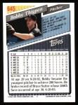 1993 Topps #645  Bobby Thigpen  Back Thumbnail