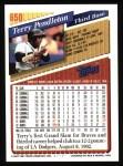 1993 Topps #650  Terry Pendleton  Back Thumbnail