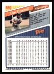 1993 Topps #660  Alan Trammell  Back Thumbnail