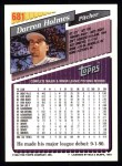 1993 Topps #681  Darren Holmes  Back Thumbnail