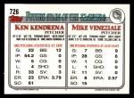 1993 Topps #726  Mike Veneziale  Back Thumbnail