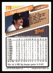 1993 Topps #778  Don Slaught  Back Thumbnail