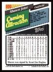 1993 Topps #800  Shawn Jeter  Back Thumbnail