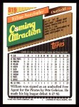 1993 Topps #819  William Pennyfeather  Back Thumbnail