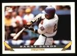 1993 Topps #2  Barry Bonds  Front Thumbnail