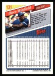 1993 Topps #131  Dave Winfield  Back Thumbnail