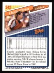 1993 Topps #242  Charlie O'Brien  Back Thumbnail