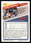 1993 Topps #287  Mike Gallego  Back Thumbnail