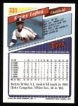 1993 Topps #331  Kenny Lofton  Back Thumbnail