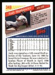 1993 Topps #348  Andy Stankiewicz  Back Thumbnail