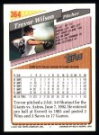 1993 Topps #364  Trevor Wilson  Back Thumbnail