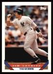 1993 Topps #385  Jim Leyritz  Front Thumbnail