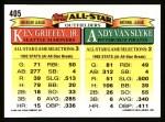 1993 Topps #405   -  Ken Griffey Jr. / Andy Van Slyke All-Star Back Thumbnail