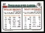 1993 Topps #497  Matt Petersen  Back Thumbnail