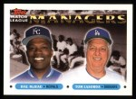 1993 Topps #507   -  Hal McRae / Tommy Lasorda Managers Front Thumbnail