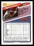 1993 Topps #575  Monty Fariss  Back Thumbnail
