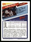 1993 Topps #635  Albert Belle  Back Thumbnail