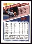 1993 Topps #651  Rafael Bournigal  Back Thumbnail