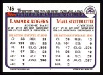 1993 Topps #746  Mark Strittmatter  Back Thumbnail