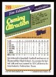 1993 Topps #799  Jim Edmonds  Back Thumbnail