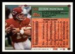 1994 Topps #520  Joe Montana  Back Thumbnail