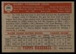 1952 Topps #291  Gil Coan  Back Thumbnail