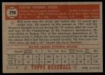 1952 Topps #298  Bob Ross  Back Thumbnail