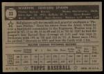 1952 Topps #33 BLK Warren Spahn  Back Thumbnail