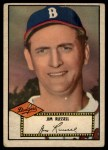 1952 Topps #51 BLK Jim Russell  Front Thumbnail