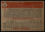 1952 Topps #66 RED Preacher Roe  Back Thumbnail