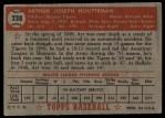 1952 Topps #238  Art Houtteman  Back Thumbnail