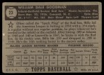 1952 Topps #23 BLK Billy Goodman  Back Thumbnail