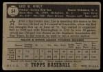 1952 Topps #54 BLK Leo Kiely  Back Thumbnail