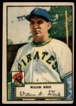 1952 Topps #73 RED Bill Werle  Front Thumbnail
