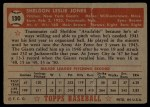 1952 Topps #130  Sheldon Jones  Back Thumbnail