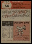 1953 Topps #56  Gerry Staley  Back Thumbnail