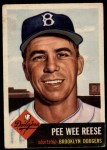 1953 Topps #76  Pee Wee Reese  Front Thumbnail