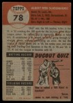 1953 Topps #78  Al  Red  Schoendienst  Back Thumbnail